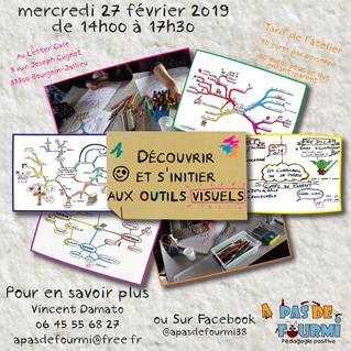 """Atelier """"Découvrir et s'initier aux outils visuels"""" mercredi 27 février 2019 de 14h00"""