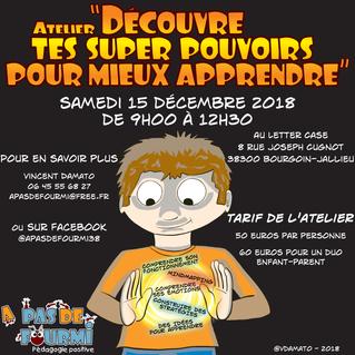 Ouverture des inscriptions aux ateliers A Pas de Fourmi de décembre à Bourgoin-Jallieu (38)