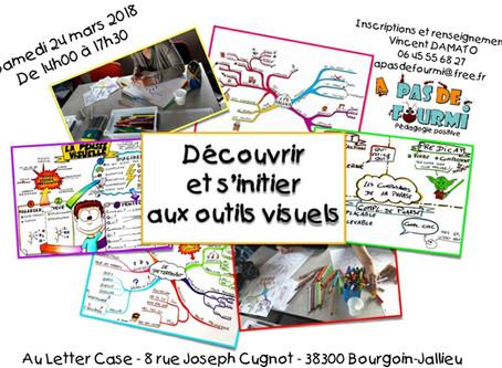 """Atelier de """"Découverte et d'initiation aux outils visuels""""  Mercredi 24 mars 2018 de 1"""