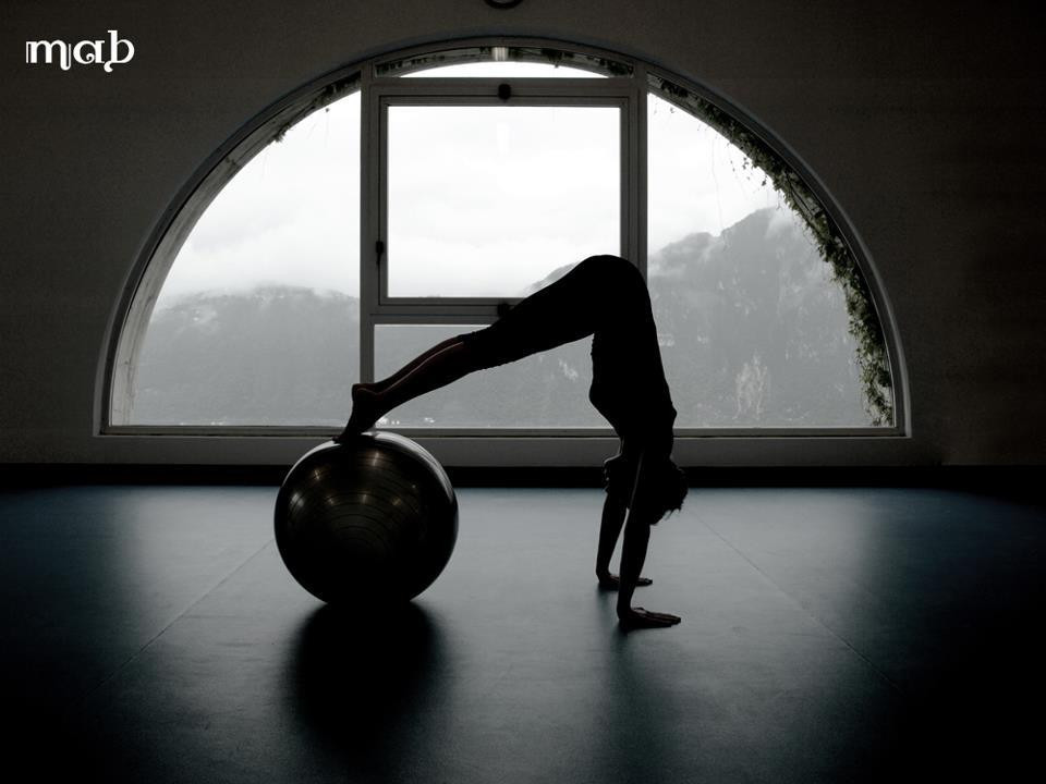 long stretch variation with fitball Benedetta Arlin