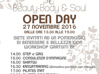 Open Day Beauty Body and Soul