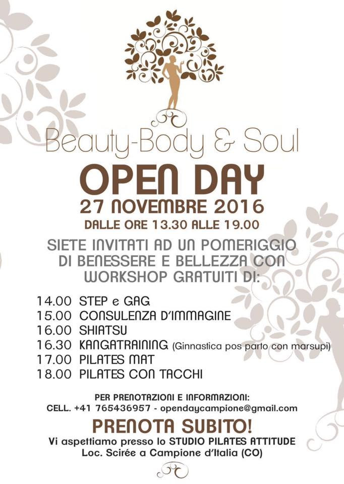 open day 2016 Beauty Body and Soul
