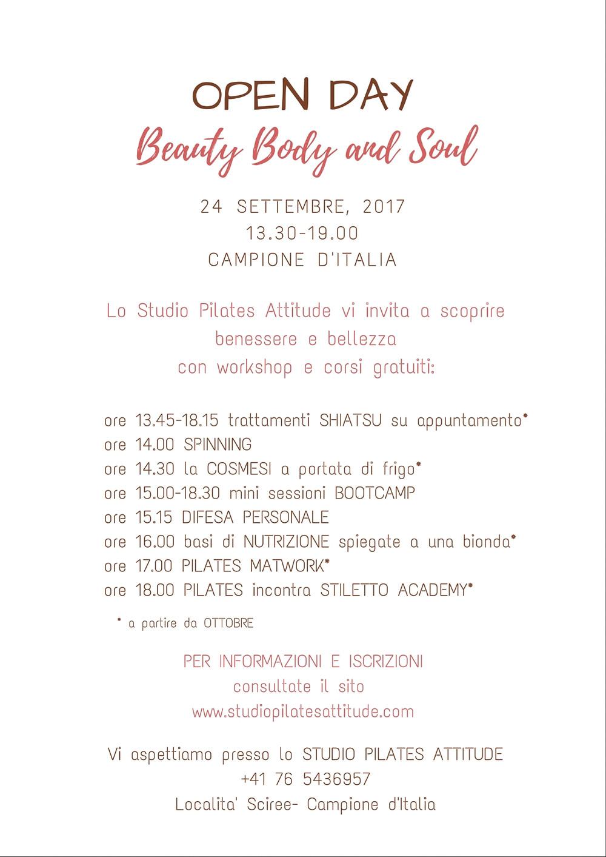 open day Beauty Body & Soul 2017 Studio Pilates Attitude