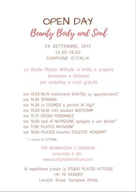 Open Day Beauty Body & Soul 2017: la consapevolezza è il must have per essere la migliore versio