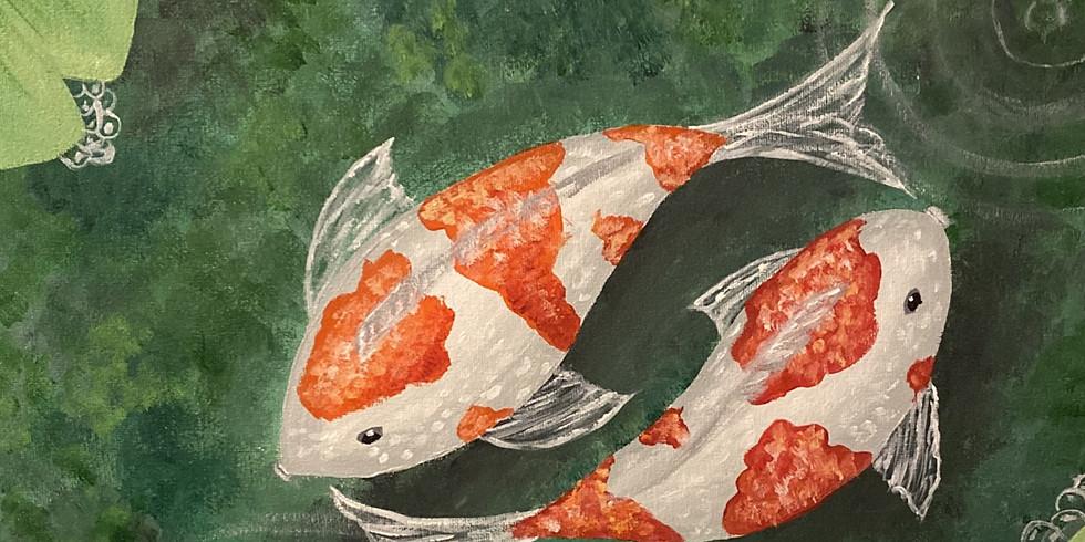 Painting Koi Fish with Feli