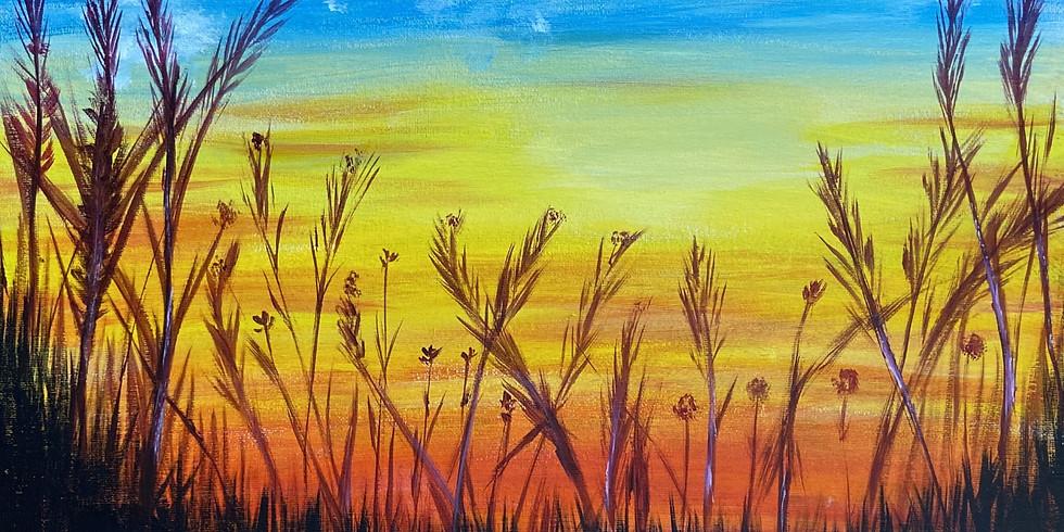 Painting Marsh Sunset with Feli