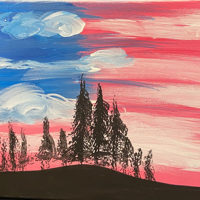 North American Sky Painting with Shawnee