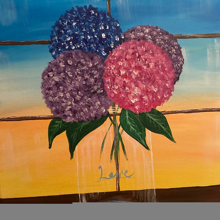 July Blossoms Painting with Feli