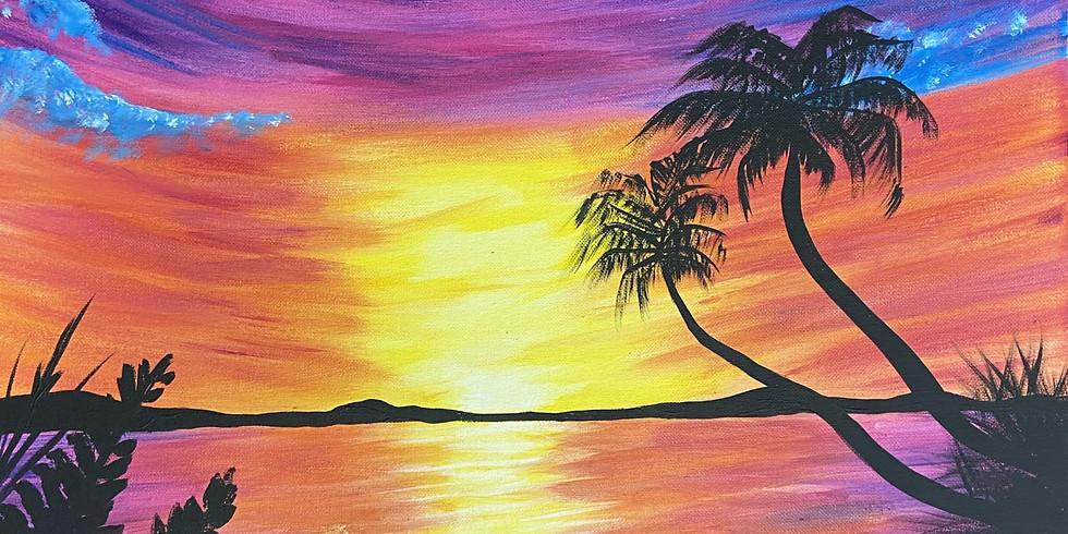 June Sky Painting with Feli