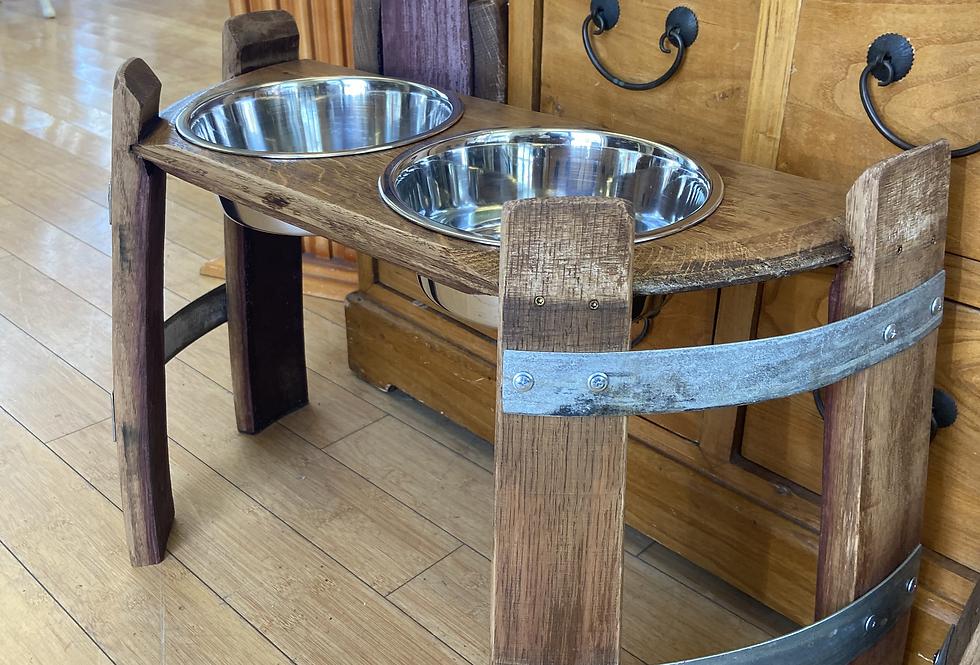 Two Bowl Dog Feeding Station