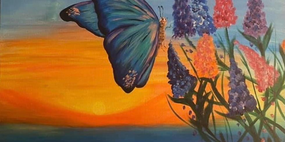 Painting La Mariposa with Feli