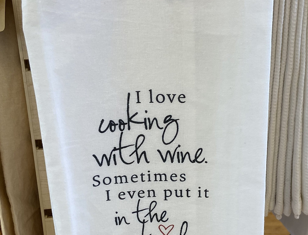 I Love Cooking With Wine ...