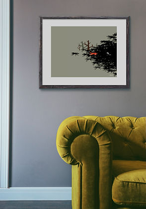 'The Chased' viewed on wall