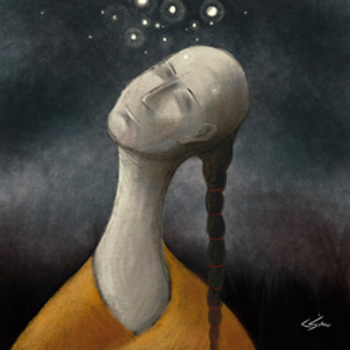 Here I'm looking at symbolising the methodology of mindfullness and the benefits it can bring to one's state of mind.