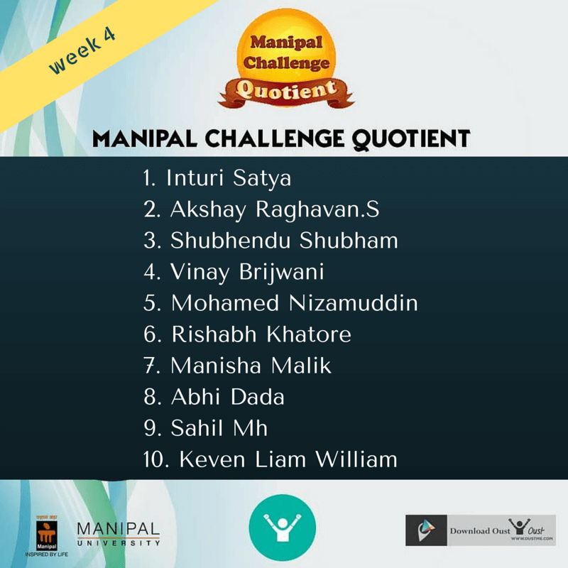 week-4 manipal winners