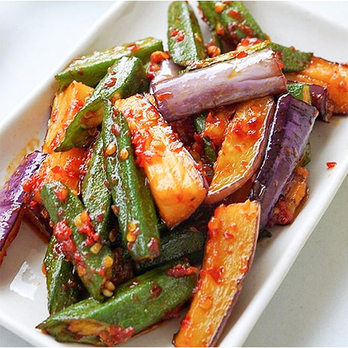 Sambal Brinjal and Lady's Fingers