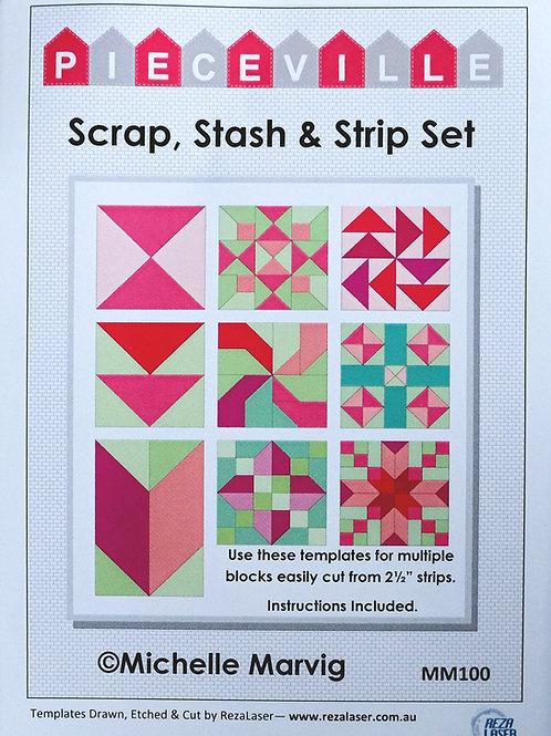 MM100 Scrap, Stash & Strip Template Set
