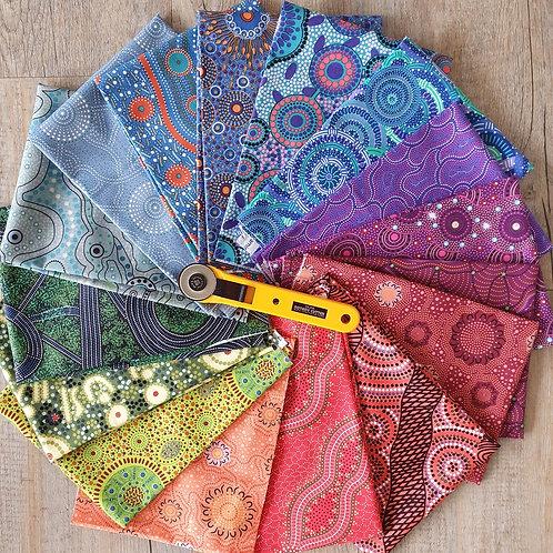 Rainbow of Aboriginal Fabrics