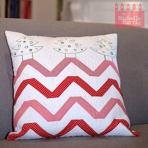 Zig Zag Christmas Cushion