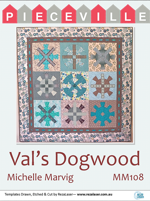 MM108 Val's Dogwood Template Set