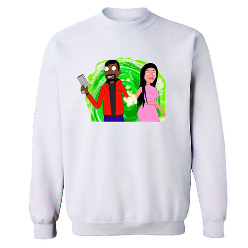 KimYe Rick and Morty Sweatshirt - Premium Quality