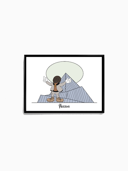 Cartoon Yeezus Poster - Premium Quality