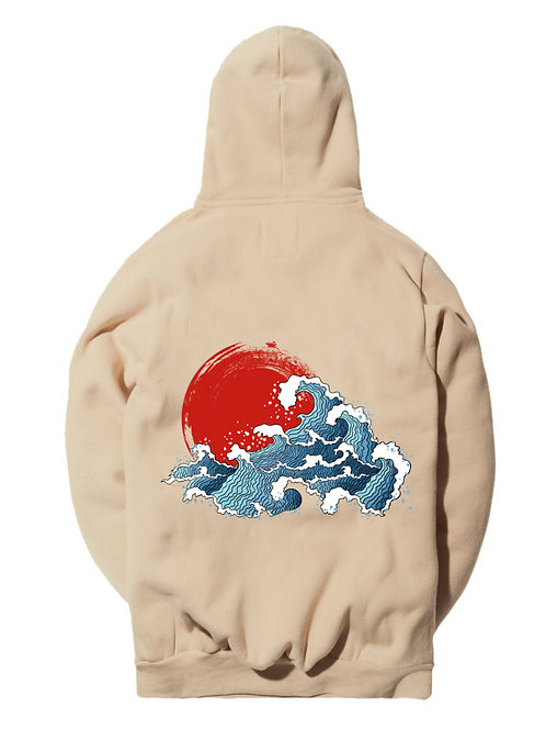 V2 Japanese Waves Pullover Hoodie - Premium Quality