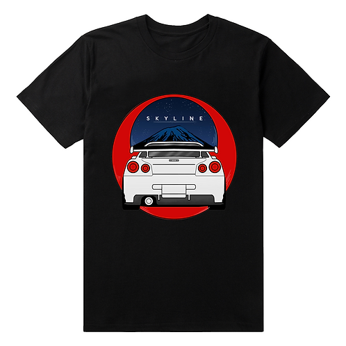 Nissan Skyline Large Graphic T-Shirt - Premium Quality