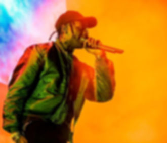 Travis Scott performing live.