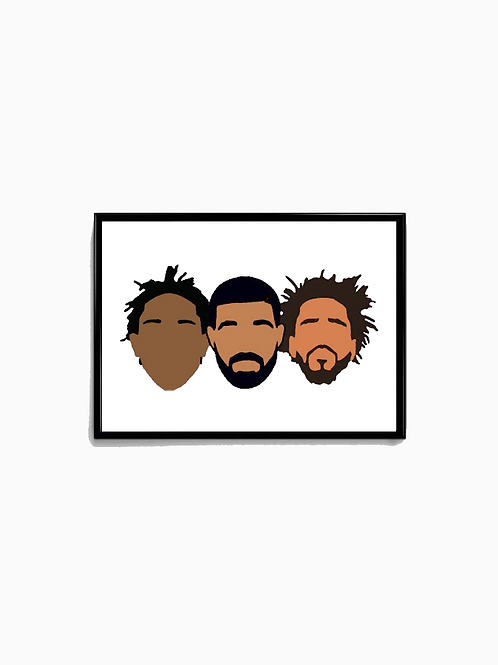 Painted 3 Kings Poster - Premium Quality