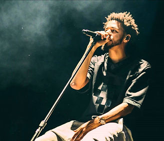 J Cole performing live