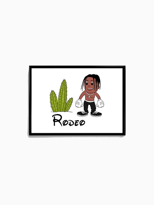 Cartoon Rodeo Poster - Premium Quality