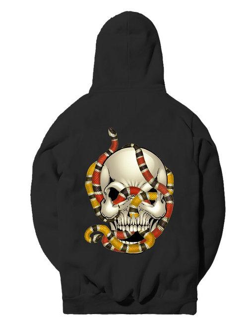 Snake Infested Skull Hoodie - Premium Quality