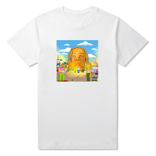 White Astro Parody T-Shirt - Premium Quality