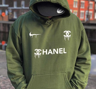 Nike x Chanel Dripping Logo Hoodie concept