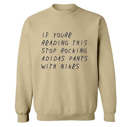 'Adidas Pants with Nikes' Sweatshirt - Premium Quality