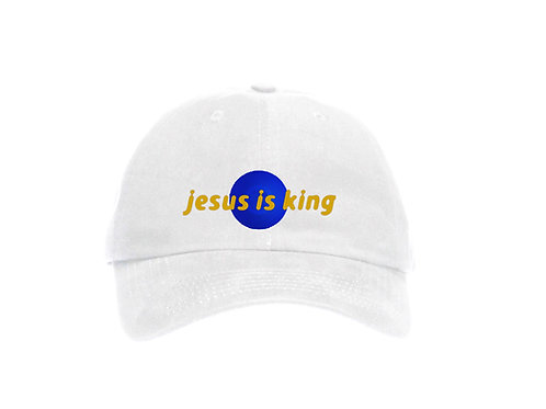Painted Jesus Is King Baseball Dad Cap - Premium Quality