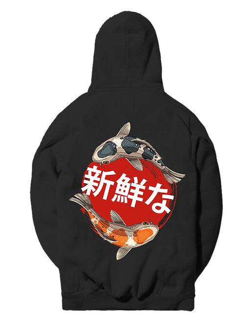 V2 Japanese Koi Pullover Hoodie - Premium Quality