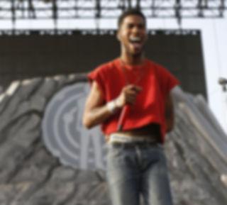 Kid Cudi performing live.