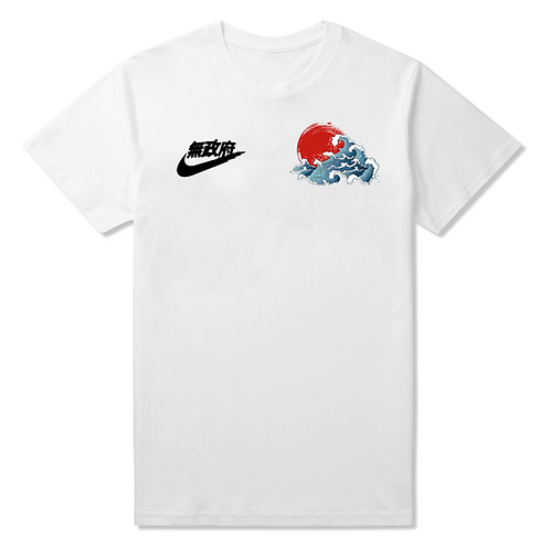 Japanese Waves Crew Neck T-Shirt - Premium Quality