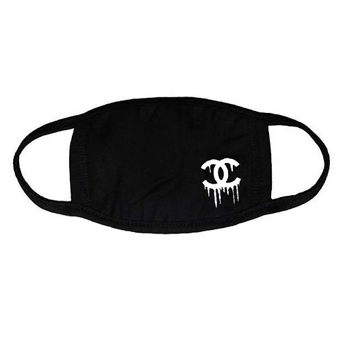 Dripping Logo Face Mask - Premium Quality