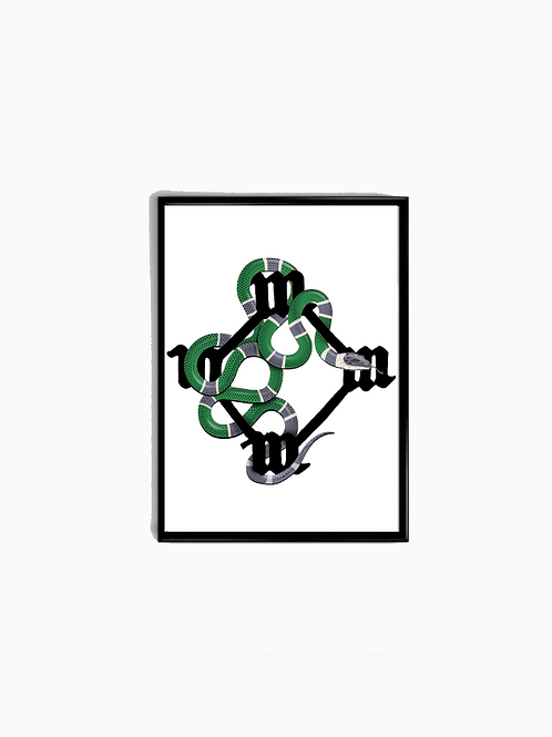 Green All Day V2 Snake Poster - Premium Quality