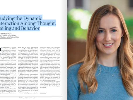 Dr. Leanne Quigley was recently featured in YU Today!