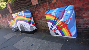 Sincil Bank Community Art Project - First Painting Day