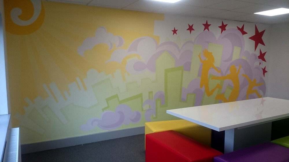 Completed mural in party room 2