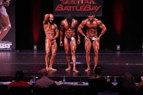 Men Open Bodybuilding (light, middle, and heavyweight)