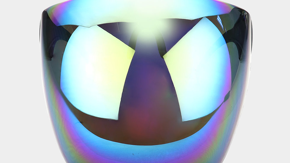 Iridescent face shield