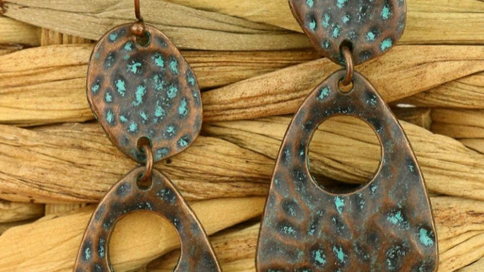 Metal earrings special design