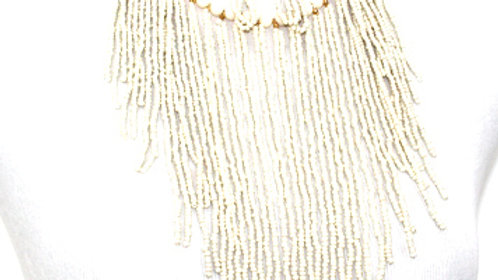 White fringe necklace sets