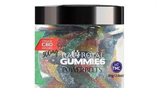 RA Royal CBD - CBD Edible - Power Belts Gummies - 300mg-1200mg